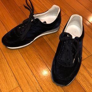 RAG & BONE Navy Velvet sneakers Size 37